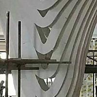 &#8203弧形铝方通-雕刻铝单板方通-造型天花吊顶