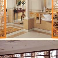 木纹铝窗花 纪念馆装饰木纹铝窗花