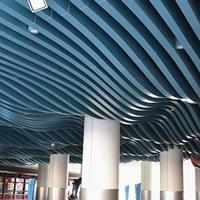 弧形商城木纹铝方通吊顶天花 各种规格