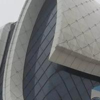 双曲门头造型铝单板_幕墙氟碳铝单板