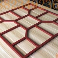 仿木铝艺焊接窗花 镂空木花格