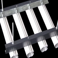 白色铝圆管吊顶 木纹圆管吊顶