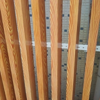 木紋鋁型材吊頂 弧形鋁方通