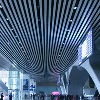 高铁站室内吊顶装饰铝方通 白色铝方通吊顶