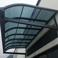 耐力板别墅花园防雨铝合金遮阳棚露台棚