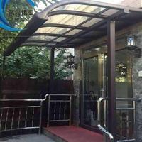 铝合金雨棚透明遮阳棚pc耐力板雨篷窗户雨搭