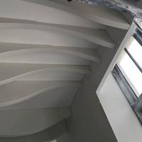 白色弧形铝方通墙面装饰 铝单板