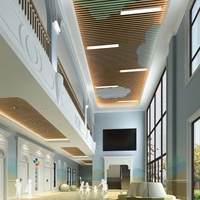 高品质U槽木纹铝方通 弧形铝方通必胜客吊顶
