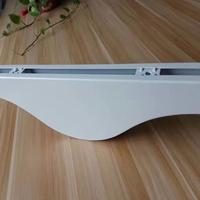 弧形白色铝方通 铝单板方通定制
