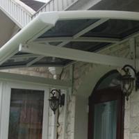 定制各种耐力板车棚、窗棚、露台棚