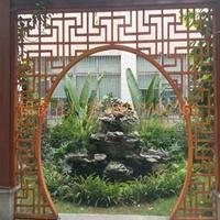 厂家专业定做艺术造型铝窗花-古街改造