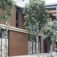 供應門店內外木紋鋁方通吊頂