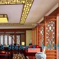 餐厅木纹铝合金屏风窗花_窗花多少钱一平方?