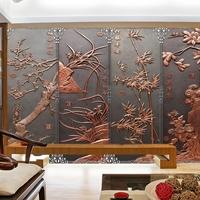古铜色铝合金窗花 客厅各种字画铝屏风挂件