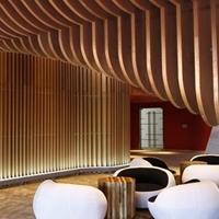五星级酒店弧形铝方通吊顶
