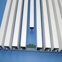 高级服务区吊顶木色铝方通 白色铝方通吊顶