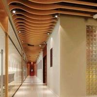 商場吊頂弧形木紋鋁方通