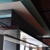 休閑區裝飾吊頂木紋鋁方通