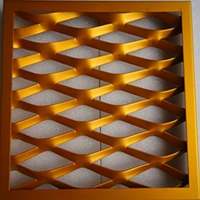 有色噴涂漁網鋁天花  拉網鋁單板定制
