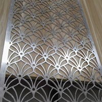 激光雕刻弧形尖孔圆孔雕花铝单板