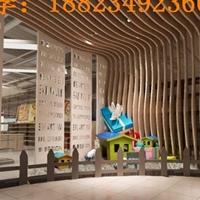 木紋U型鋁方通天花吊頂_工程吊頂鋁方通