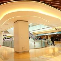购物中心弧形铝方通_商场吊顶造型铝方通