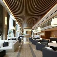 高级酒店弧形铝方通造型装饰吊顶