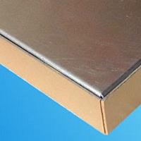 紅旗4S店門頭鋁蜂窩裝飾板-包柱鋁單板