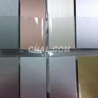 进口6063拉丝铝板氧极氧化