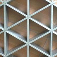 菱形铝格栅 地铁站装饰菱形铝格栅