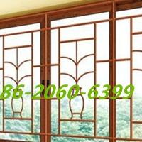 中空铝合金风窗-仿古铝窗花-玻璃窗铝花格