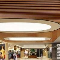购物中心天花吊顶U型木纹铝方通