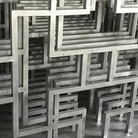 供应广东木纹中式复古铝窗花铝花格厂家