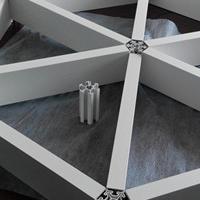 铝型材三角形铝格栅吊顶
