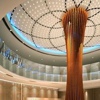 大堂 大厅吊顶型材铝方通-木纹铝方通