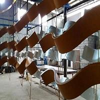 拼圆形木纹弧形铝方通吊顶 S型铝方管