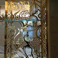 别墅室内装饰屏风 铝雕花格屏风玄关供应商