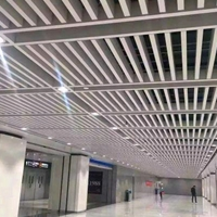 广东铝方通天花生产厂家 白色U型铝方通