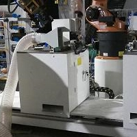 機器人自動鋸床吸屑機