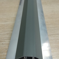 银白氧化净化铝型材内圆带塑料底座