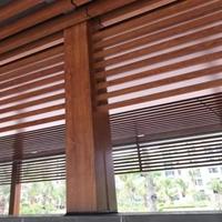 凉亭型材铝方管定制 木纹铝方管 铝方管定制