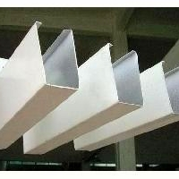 木纹u形铝方通  木纹条形天花吊顶