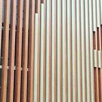 皮具店吊顶造型铝方通价格-木纹铝条扣厂家