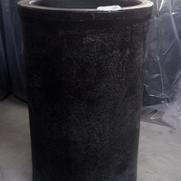 中频炉坩埚熔铜