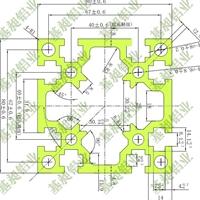 工业铝合金型材8080自动化设备框架用