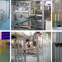 工业铝型材设备防护罩围栏