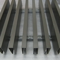 木纹铝方通吊顶 - 铝方通外墙