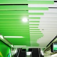 铝方通  地铁站紫色u形铝方通