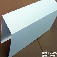 酒家白色铝方通材料-混涂白铝方通天花吊顶