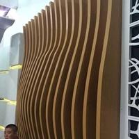 弧形鋁方通吊頂廠家 木紋弧形鋁方通廠家